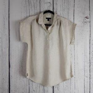 J Crew Linen Shirt Size Small